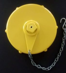 "Yellow 4 1//2/"" Plastic Fire Hydrant Cap"